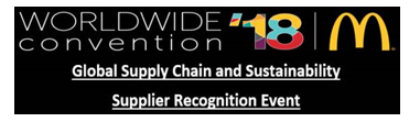 Worldwide Convention '18 - Global Supply Chain and Sustainability Supplier Recognition Event